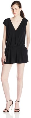 BCBGeneration Women's Slit Back Shorts Romper