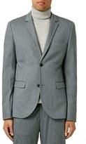 Topman Skinny Fit Jersey Suit Jacket