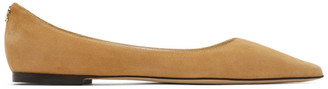 Jimmy Choo Tan Suede Love Flats