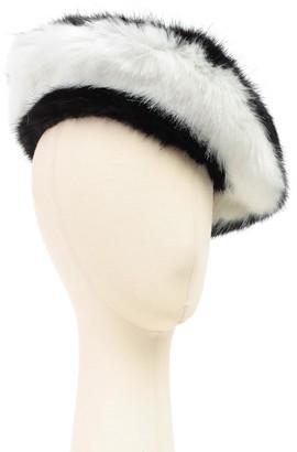 Emporio Armani Hat Faux Fur Bicolour