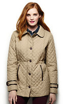 Lands' End Women's Petite Quilted Primaloft Parka-Forest Night