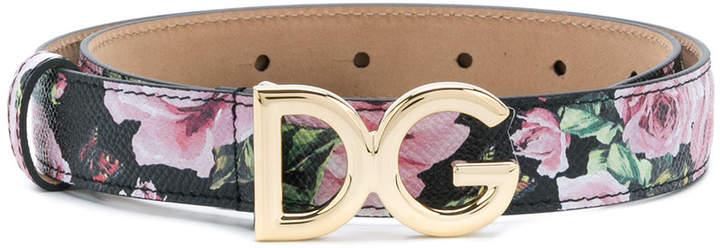 Dolce & Gabbana rose print belt