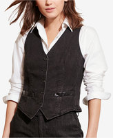 Lauren Ralph Lauren Stretch Denim Vest