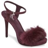 MICHAEL Michael Kors Women's Faye Genuine Rabbit Fur Sandal
