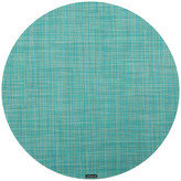 Chilewich Mini Basketweave Round Placemat - Turquoise