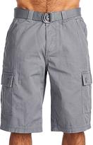 OTB Gray Belted Cargo Shorts