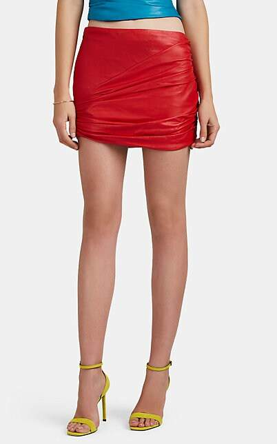 bc9ee6d161 Red Leather Mini Skirt - ShopStyle