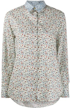 Paul Smith Floral-Print Contrast Shirt