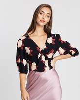 Miss Selfridge Floral Bubble Sleeve Top