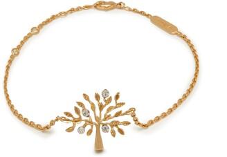 Mulberry Tree Bracelet Brass Metal and Swarovski Crystal