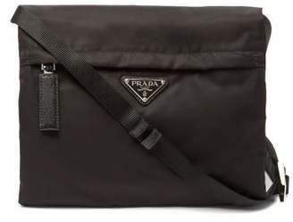 Prada Vela Nylon Cross Body Bag - Mens - Black