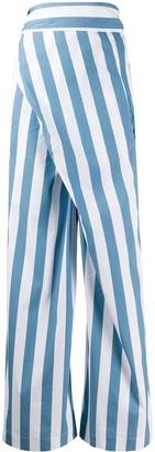 Erika Cavallini Striped Crisscross Trousers