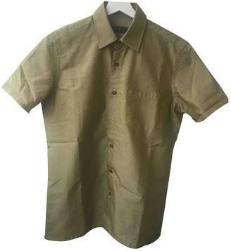 Prada Gold Cotton Shirts