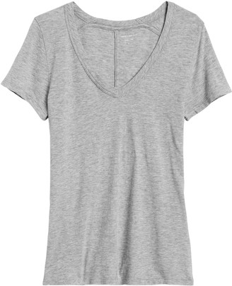 Banana Republic Slub Cotton-Modal V-Neck T-Shirt