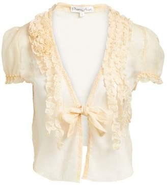 Pretty Angel Women's Blouses CARAMEL(CA) - Caramel Sheer Linen-Blend Bolero - Women