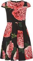 Dorothy Perkins Petite Floral Scuba Prom Dress