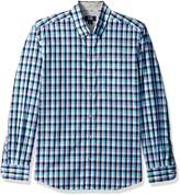 Cutter & Buck Men's Plaid and Check Easy Care Button Down Collared Shirts