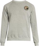 Saint Laurent Never Say Never appliqué cotton-blend sweatshirt