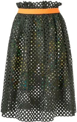 Kolor Cut-Out High-Waist Skirt