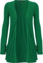 WearAll Women's Long Sleeve Pocket Cardigan - US 12-14 (UK 16-18)