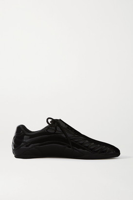 Balenciaga Zen Quilted Faux Patent-leather Sneakers - Black