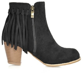 Goodnight Macaroon 'Raeleigh' Fringed Block Heeled Boots (3 Colors)