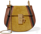Chloé Drew Mini Leather And Suede Shoulder Bag - Light brown