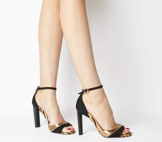 Office Hila Wf Ankle Strap Sandals Black Tiger Mix