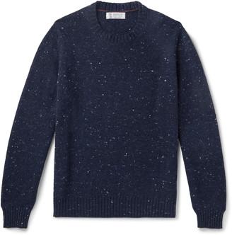 Brunello Cucinelli Melange Wool-Blend Sweater