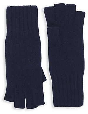 Saks Fifth Avenue Knit Cashmere Fingerless Gloves