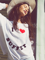 Wildfox Couture Buffet Break Kims Sweater in Clean White