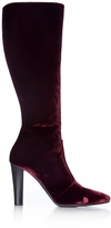 Saint Laurent Lily velvet knee-high boots