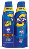 Coppertone Sport C-Spray SPF 50 Twin Pack 12 oz