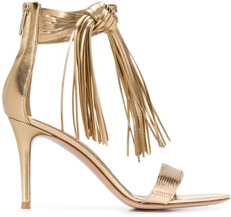 Gianvito Rossi Fringed 85mm Sandals