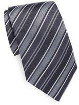 John Varvatos Striped Silk Tie