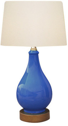 East Enterprises Inc Porcelain Table Lamp, Blue