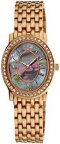 August Steiner Rose Gold Dazzling Diamond Oval Bracelet Watch