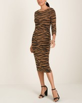 Of the Moment Travelers Classic Animal-Print Dress