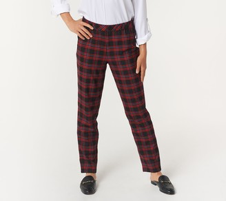 Joan Rivers Classics Collection Joan Rivers Petite Pull On Plaid Ankle Pants