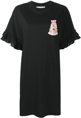 Moschino Teddy Print Jersey Dress