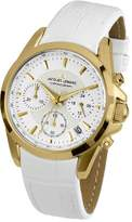 Jacques Lemans Liverpool Women's Quartz Watch with Multicolour Dial Chronograph Display and White Leather Strap 1-1752D