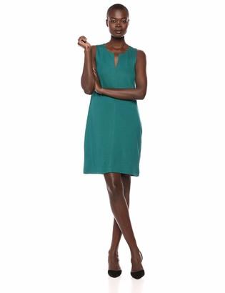 Lark & Ro Amazon Brand Women's Sleeveless Split Neck Shift Dress