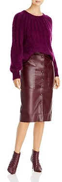 Alberta Ferretti Pleated Mohair Sweater