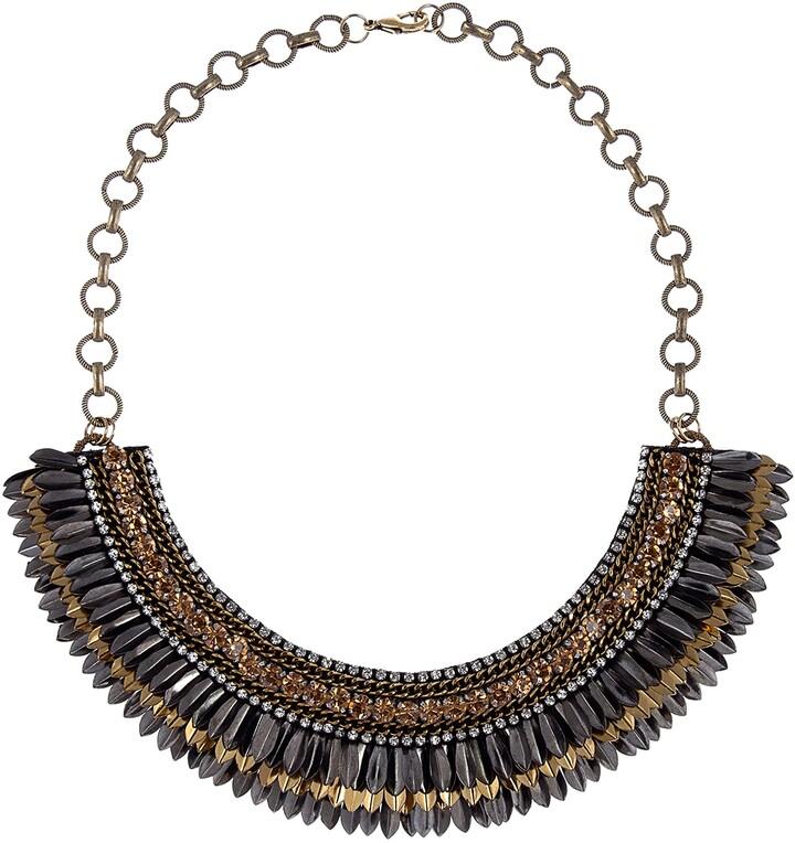 Kaleidoscope Bib Necklace Green /& powder Blue BIB Necklace,Statement Jewelry,-Bohemian Necklace,celestial bib Modern Stylish Jewelry Clear