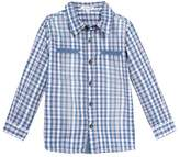 3 Pommes 3POMMES Blue Check Shirt (Blue (Mid Blue)) -