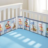 BreathableBaby Mesh Crib Liner, Buried Treasure, Blue/brown/White/Gray/yellow/red by