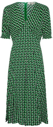 Diane von Furstenberg Jemma printed crepe midi dress