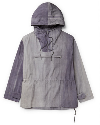 AURALEE Nylon Hooded Half-Zip Jacket