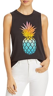 Chaser Cotton Pineapple Graphic Muscle Tank Top