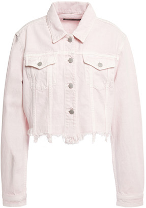 J Brand Cyra Cropped Distressed Denim Jacket